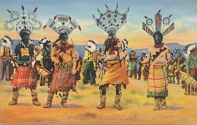 Apache Indian Devil Dance  1940s * NM/AZ   Curt Teich #182