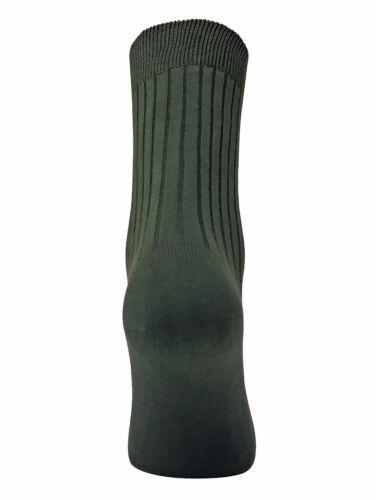 Dr Hunter 2 Paires Homme Chaussettes Doux Vertes 100/% Coton pour Randonnée
