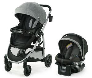 Graco-Modes-Pramette-Travel-System-w-SnugRide-35-Lite-DLX-Car-Seat-Ellington-NEW