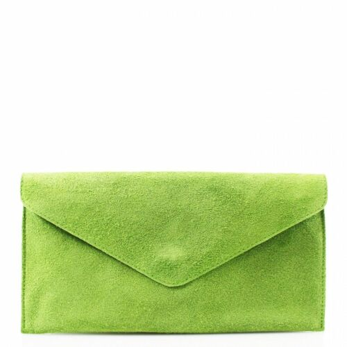 Ladies Real Leather Envelope Clutch Evening Bag Women Party Crossbody HandBags