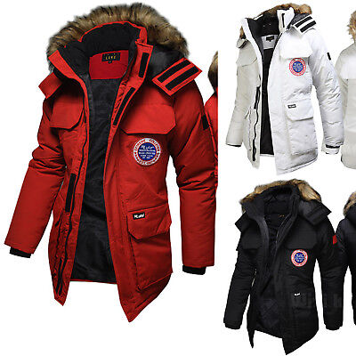 Mens Extreme Luke Fur Padding Parka Jacket Jumper Blazer Coat Outdoor Top B152