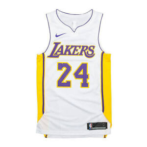 size 40 3f0ff 3c8e8 Nike Authentic Los Angeles Lakers Kobe Bryant Home White Jersey 52 Aq2106  100