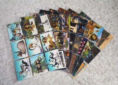 MADAGASCAR THE MOVIE 2005 COMIC IMAGES COMPLETE BASE CARD SET OF 72 AN