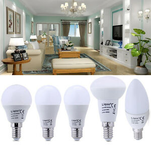 6x-6W-14W-LED-E14-E27-Birne-Gluehbirne-Lampe-Leuchtmittel-Warmweiss-Neutralweiss