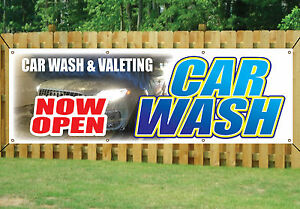 HAND-CAR-WASH-amp-VALETING-NOW-OPEN-BANNER-SIGN-outdoor-waterproof-with-Eyelets