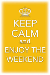 Keep-Calm-and-Enjoy-the-Weekend-Tin-Sign-Shield-Tin-Sign-20-x-30-cm-CC0489