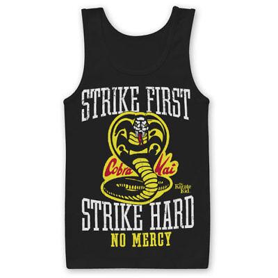 Cobra Kai No Mercy Karate Kid Inspired T-shirt 80s Retro Film Slogan 100/% Cotton