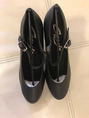"Capezio 2/"" Student Footlight Character Shoe 650 BLACK"