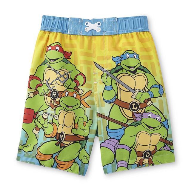 e846d1b48e Nickelodeon Teenage Mutant Ninja Turtles Toddler Boy's Swim Trunks Size 3T  NWT