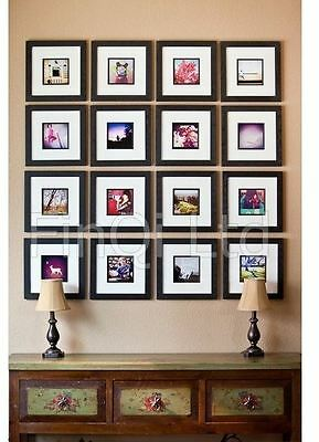 Square Photo Picture Frames Stand or Wall Hang Family Gift Present FN30