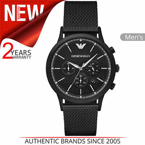 c73a3f6abc44 Emporio Armani Renato Men s Watch AR2498│Chronograph Black Dial ...