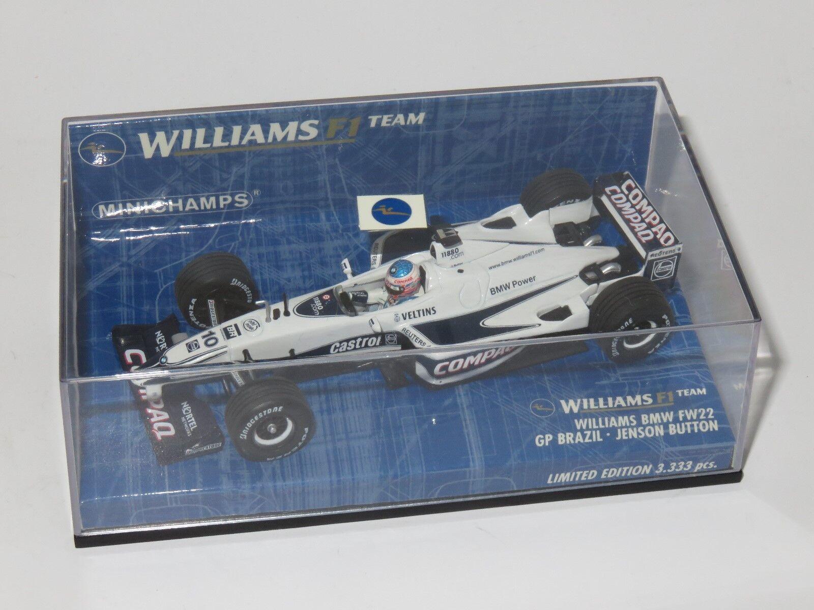 1 43 Williams BMW FW22  Brazilian GP 2000  Jenson Button