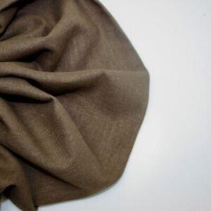 H & H Bio Lavato 100% Lino - Espresso 34 - Creazione Vestiti Tessuto Moda
