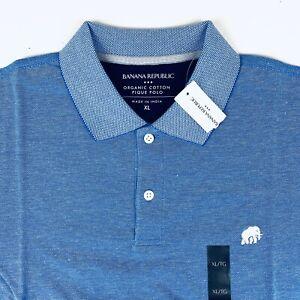 Banana-Republic-Pique-Polo-en-coton-elephant-logo-bleu-neuf-avec-etiquettes-Sz-XL
