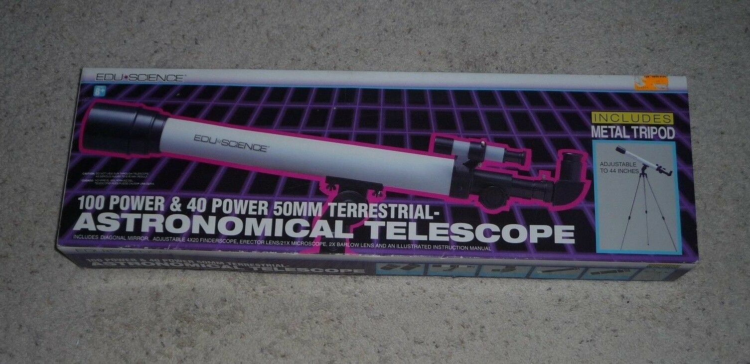 Edu Science Astro Gazer 100 Power & 40 Power 50mm Astronomer s refraktor Telesco