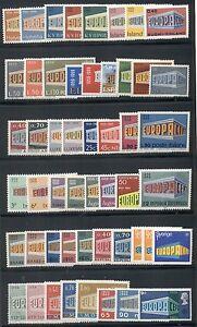 EUROPA-Complete-1969-set-common-design-issues-51-diff-og-NH-VF-Scott-94-40