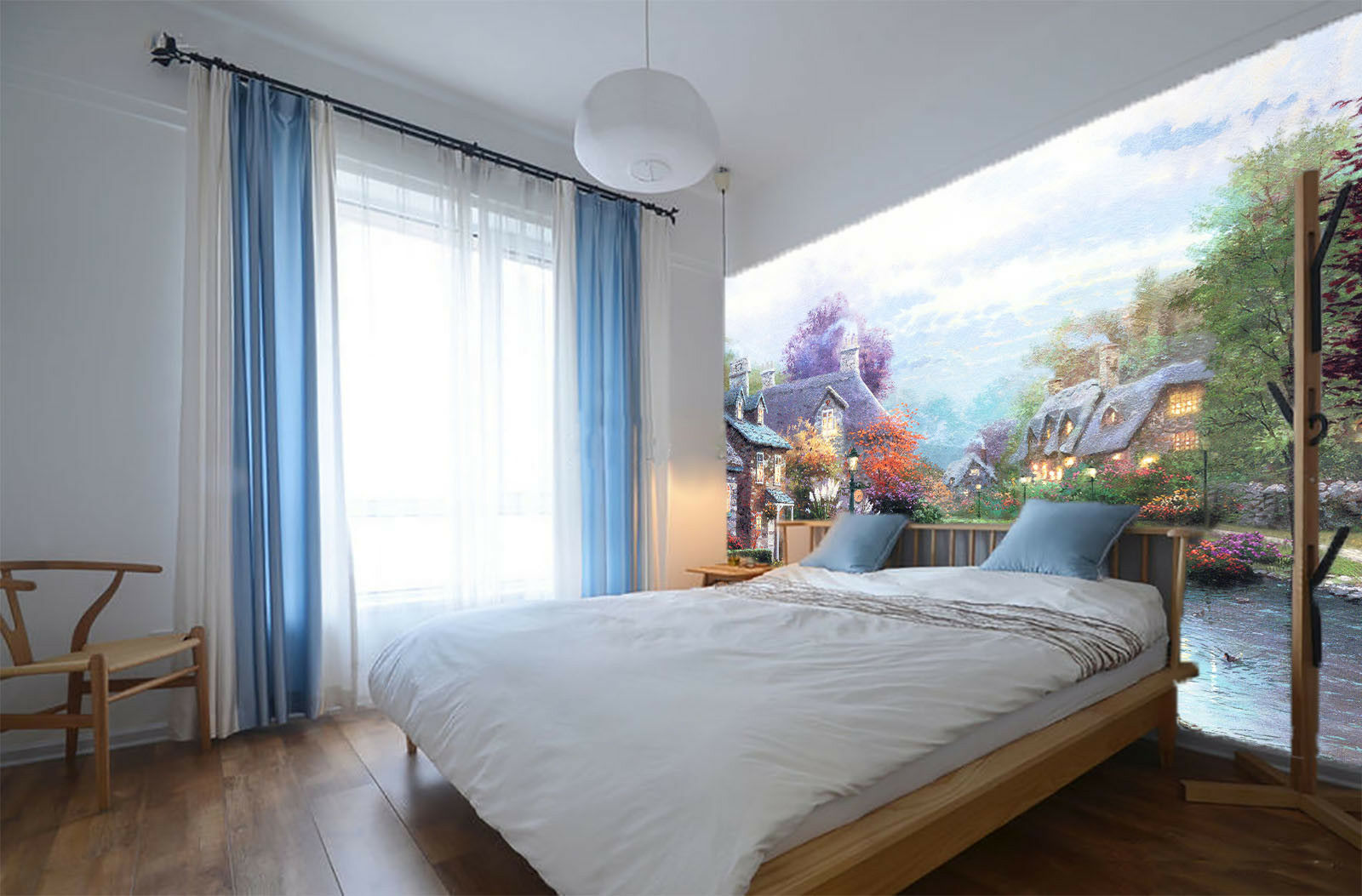 3D Riverside Houses 563 Wall Paper Wall Print Decal Wall Deco Indoor Mural Carly