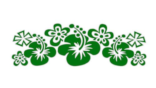 grün Inbloom Sticker Strip Blumen 30 x 10 cm