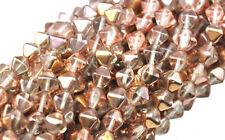 50 Apollo Gold Bicone Czech Glass Beads 6MM
