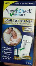 SpermCheck Fertility Male Fertility Test Home Sperm Check For Men.  Exp.4/30/19