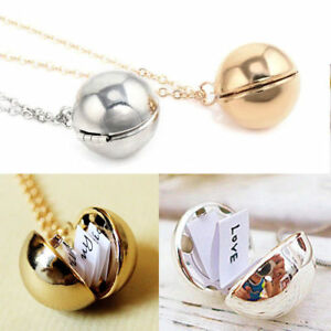 Image Is Loading Custom Handmade Secret Message Ball Locket Necklace Friendship