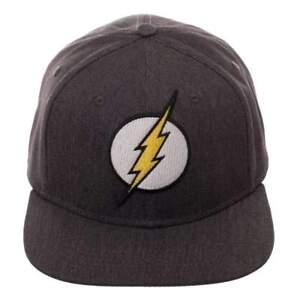 7b3b8306275 The Flash Logo Grey Adjustable Flex Fitted Hat Baseball Cap Large L ...