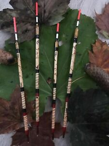 X12 Handmade scorched reed waggler floats