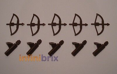 Lord Of The Rings Hobbit New Attraktiv Und Langlebig Quivers Brown Archer Lot For Castle Original 5x Lego Bows