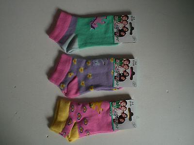 7 Paar Disney Minnie Mouse Maus Sneaker Socken Pack Mädchen Strümpfe Set 27-30