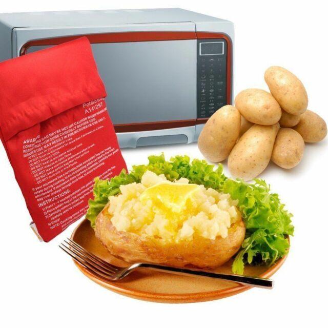 MICROWAVE BAKED POTATO COOKER BAG VEGETABLE POCKET WASHABLE EXPRESS REUSABLE