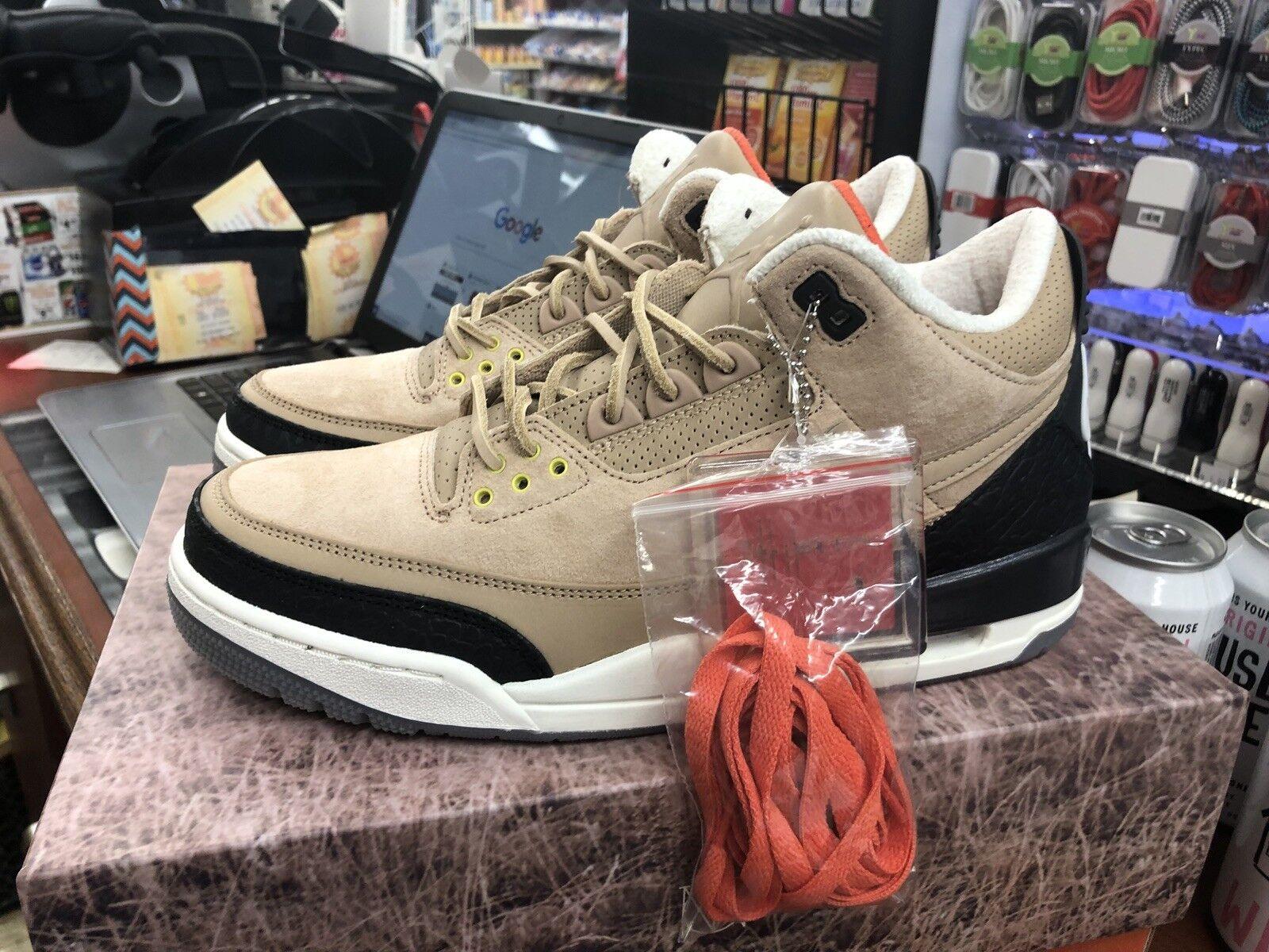 Air Jordan 3 Retro JTH NRG Bio Beige Timberlake Size 9.5