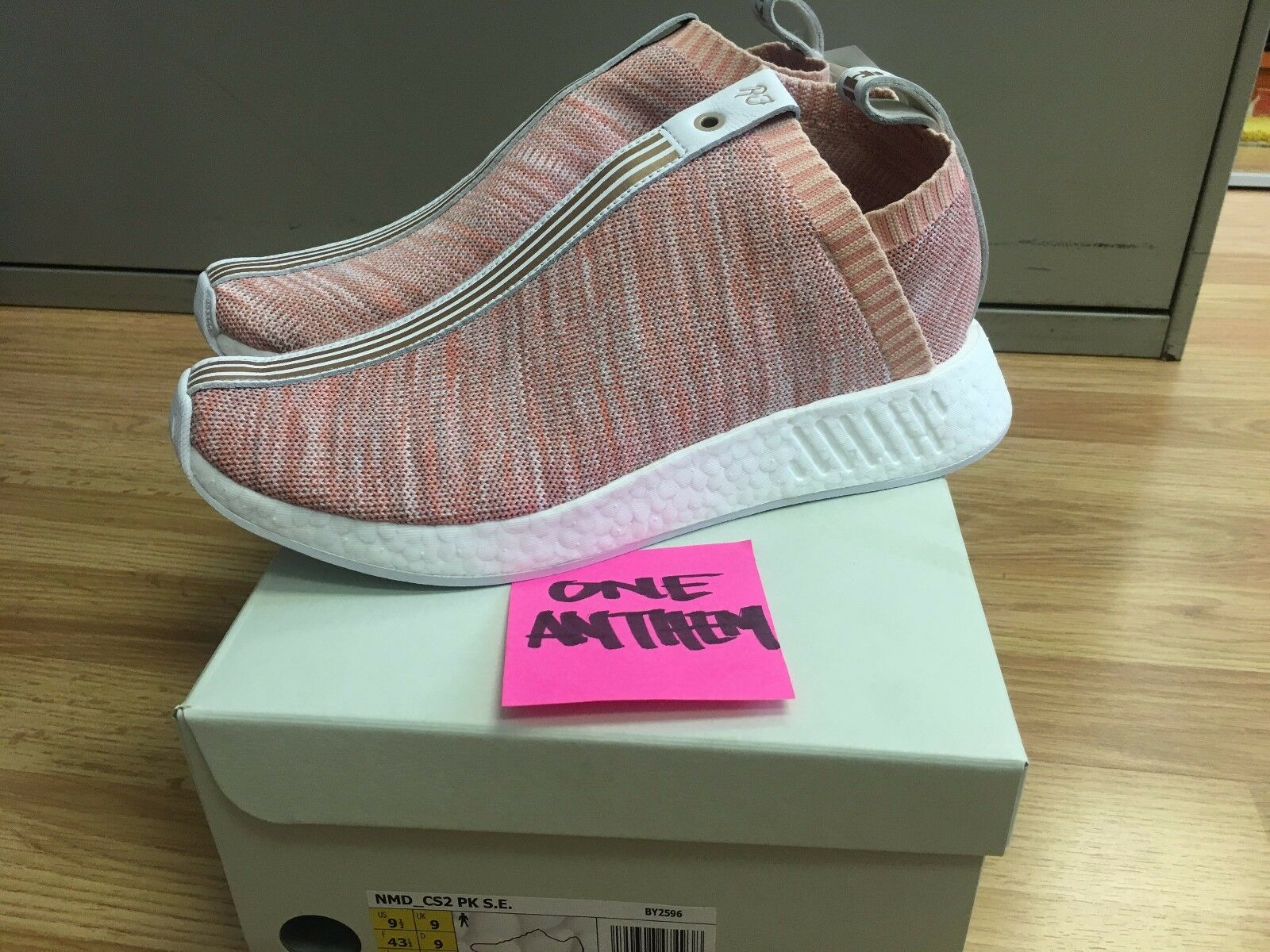 NAKED X KITH X ADIDAS CONSORTIUM NMD CS2 BY2596 PINK sz 9.5