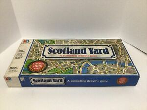 SCOTLAND YARD VINTAGE DETECTIVE BOARD GAME 1985 Milton Bradley I2