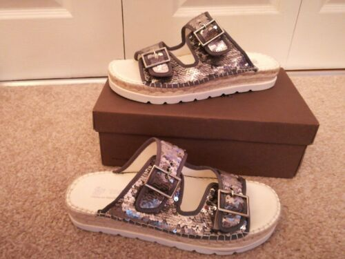 00 New Rrp 6 Macarena Reversible £85 Ariel Espadrilles Sequin Size 5 Sandals RzP8q7fzw
