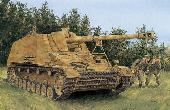 1 35 German Sd.Kfz.164 NASHORN 88mm SPAT (4-in-1 kit)  NEW Dragon DML
