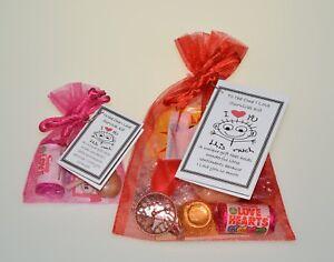 LITTLE BAG LOVE Organza Gift LOVER ANNIVERSARY WEDDING VALENTINES Present XMAS