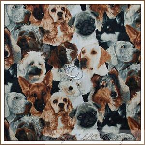 Boneful Fabric Fq Cotton Quilt Dog Breed German Shepherd Lab Collie