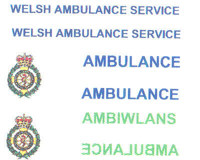 Toys & Hobbies Diecast & Toy Vehicles Adroit 8 X Welsh Ambulance Service Decal For Code 3 Models Lledo Model Ambulance Etc Strengthening Sinews And Bones