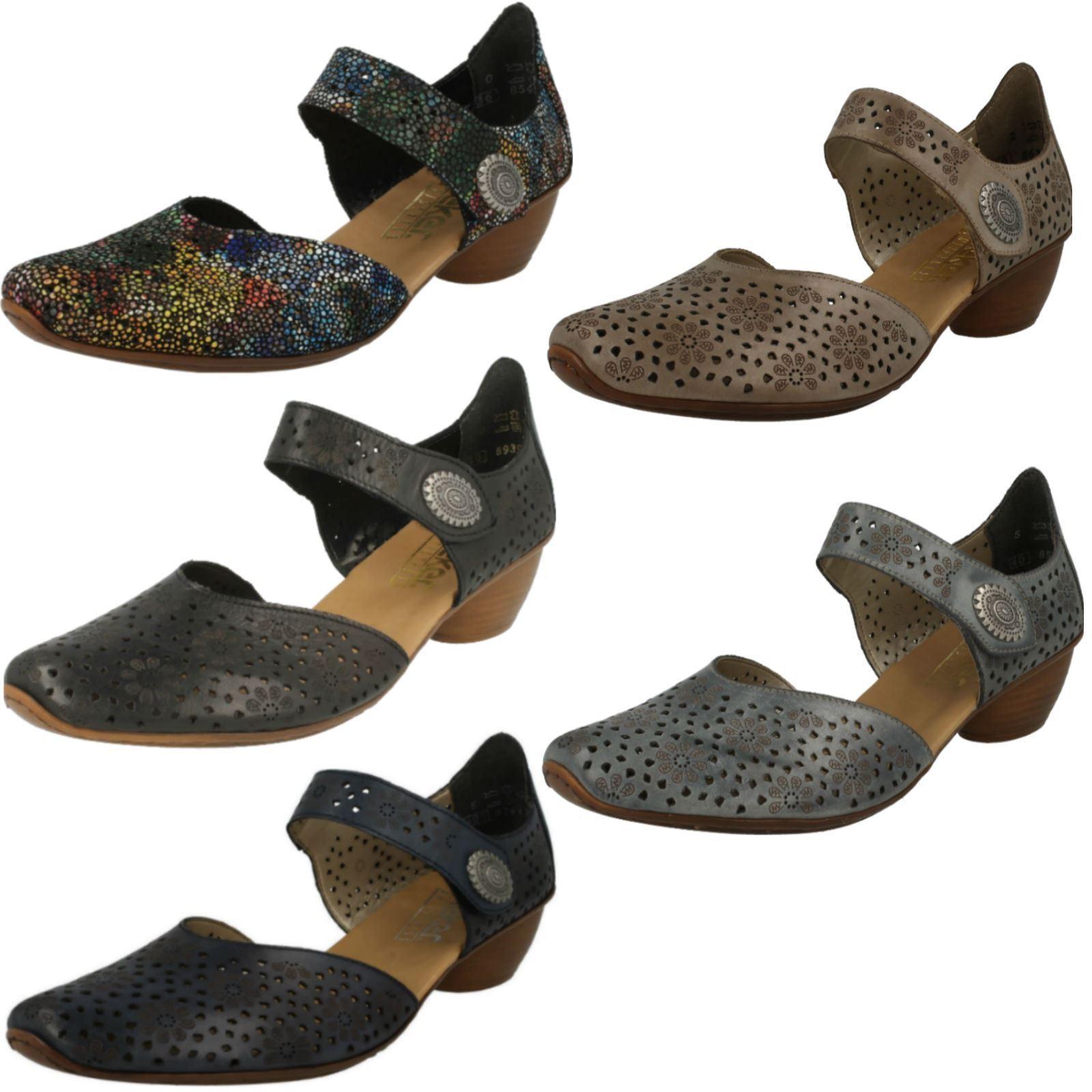 Ladies Rieker 43711 Leather Smart Open Side Shoes