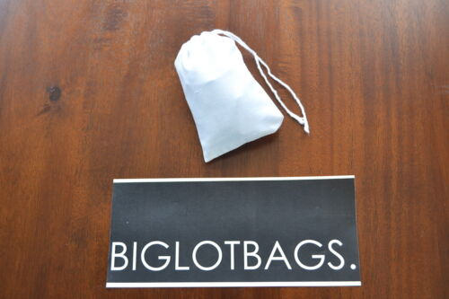 White Single Drawstring Bag Wholesale Prices 3 x 5 Inches Cotton Muslin Bag
