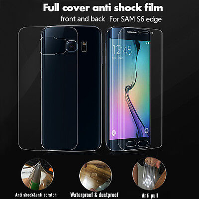 Front + Back Full Cover Curved Clear Screen Protector For Samsung Galaxy S6 Edge