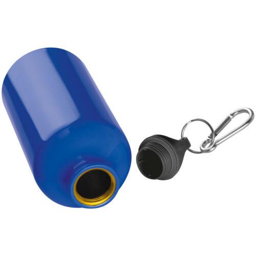 blau Aluminium Trinkflasche mit Karabinerhaken 500ml Sportflasche Farbe
