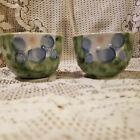 2 Vintage Teacups w/ Pastel Floral Decorations w/ Maker's Mark on The Bottom  R