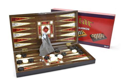Backgammon ajedrez dama tablero de madera tavla Star tablero de ajedrez oriental