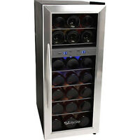 21bottle Dual-zone Wine Cooler Refrigerator, Compact Stainless Steel Mini Fridge