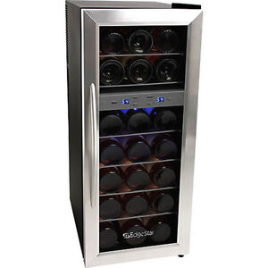 21bottle Dual Zone Wine Cooler Refrigerator Compact