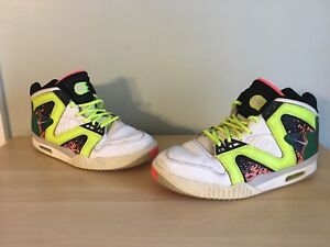 new style ce54d 0c2a5 Image is loading Nike-Air-Tech-Challenge-Hybrid-White-Volt-Lava-