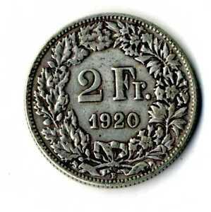 Moneda-Suiza-1920-B-2-francos-suizos-plata-835-silver-coin-Helvetia