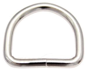 10 St. D-Ringe 25mm x18x3,4 Stahl vern. Halbrund Ring Halbrunde D Ringe D-Ring