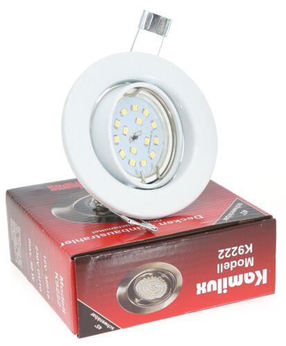 Deckenstrahler LED-Modul 230V 5W=50W Einbaustrahler Spot 230V TOM 26,5mm flach